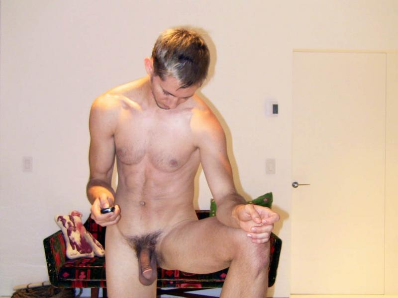 Nude Boy With A Hairy Cock Posing For The Cam